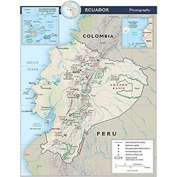 Map Poster - Ecuador Physical Map 18