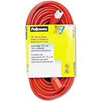 Fellowes Heavy Duty Indoor/Outdoor 50 Extention Cord - 125 V AC Voltage Rating - 13 A Current Rating - Orange by Fellowes