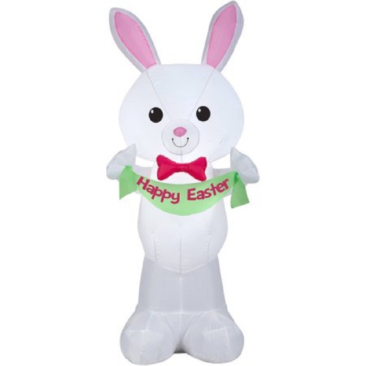 Easter Inflatable 4 LED Bunny Holding Happy Easter Banner By Gemmy - New for 2017