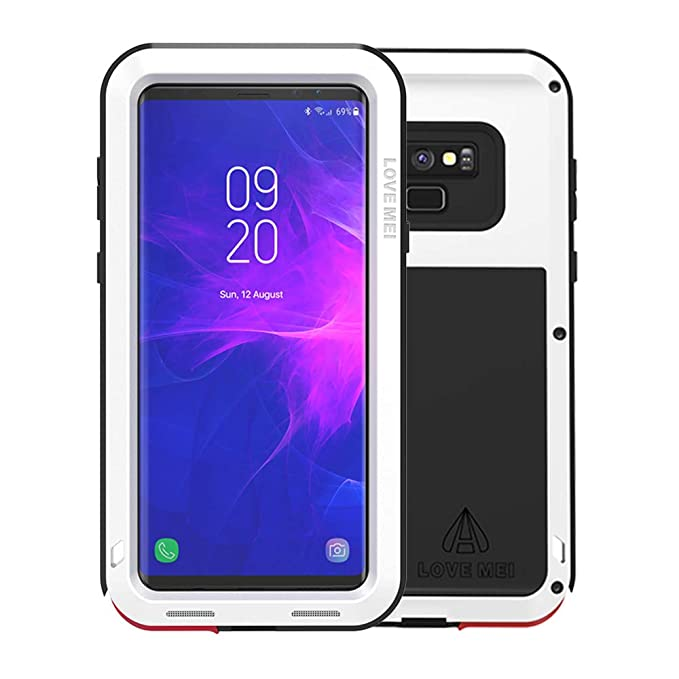 separation shoes ae9fb 7477d Galaxy Note 9 Case, Armor Hybrid Aluminum Alloy Cover Heavy Duty Gorilla  Glass Rubber Waterproof Shockproof 360 Protective Military Outdoor Men  Bumper ...