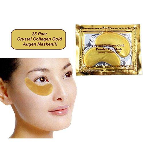 Gold Collagen Eye Mask,Crystal Gold Collagen,Anti Aging,Wrinkles, Moisturising,Dark Circles,Smoothing Skin,Natural Lift,Packungen Originale Augenpads Gold mit Hyaluronsäure&Collagen