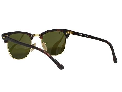 Amazon.com  Ray Ban RB3016 Clubmaster 1145 17 Sand Havana Blue Mirror  Sunglasses 49mm  Clothing 7849556320ef
