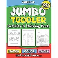 Jumbo bebé Actividad & Libro para colorear: preschooler Actividad libro para niños Edad 1-3para niños y niñas-Fun Aprendizaje Temprano con Contar ... Formas... y, Tracing Dots, colorear, y más.