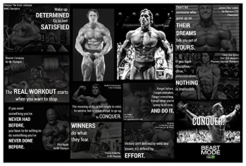 JSC173 Bodybuilder Poster   Motivational Poster   18-Inches By 12-Inches   Premium 100lb Gloss Poster Paper