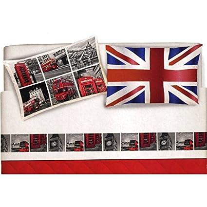 Lenzuola Matrimoniali In Inglese.Completo Lenzuola Matrimoniale Citta Londra London Bandiera
