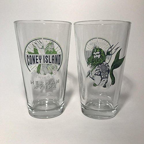 Coney Island Brewing Company - Merman NY IPA 16oz Pint Glass - Set of 2