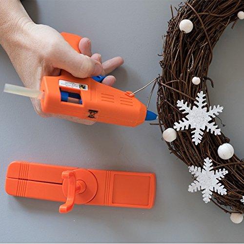 Mini pistolet /à colle 60 b/âtons recharges Cl/éop/âtre LOTPOPC2-1 Pack collage Cl/éocol 100g Orange