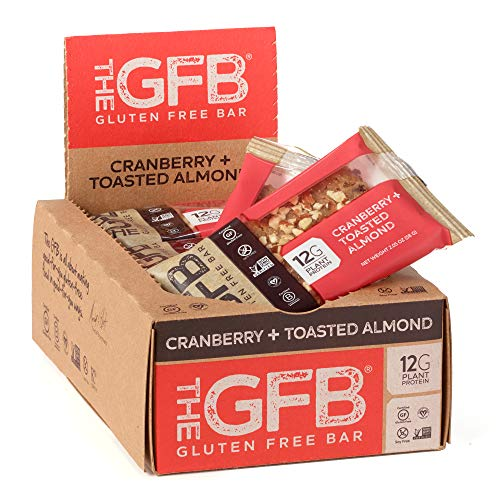Toasted Butter Almond - The GFB Protein Bars, Cranberry Toasted Almond, 2.05 Ounce (Pack of 12), Gluten Free, Non GMO