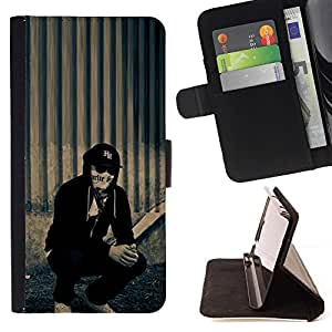 For Sony Xperia Z1 Compact D5503 hollywood undead j dog Style PU Leather Case Wallet Flip Stand Flap Closure Cover