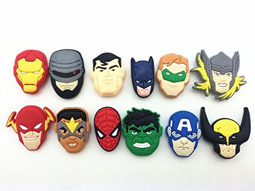 481137709a60 12pc Avengers super Hero SHOW Shoe Charms for Croc Shoes   Wristband  Bracelet - Buy Online in Oman.