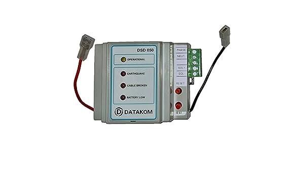 DATAKOM dsd-050 terremoto Gas Sensor de Detector de cierre con actividad sísmica: Amazon.es: Amazon.es