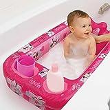 Disney Minnie Mouse Inflatable Bath Tub and Minnie Mouse Hooded Bath Towel