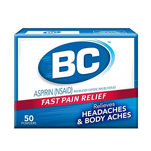 Bc Aspirin Fast Pain Relief Powder   Quickly Relieves Pain Due To Headaches  Body Aches  And Fever   Contains Caffeine   50 Powders