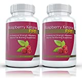 Raspberry Ketone FIRE (2 Bottles) - Professional Strength Raspberry Ketones Fat Burning Formula. The New All Natural Weight Loss Supplement. 250mg (60 Capsules per Bottle)