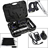 "New 18V Cordless Grease Gun 10000PSI 42"" High Pressure Hose 2Battery Thermal Warmer"