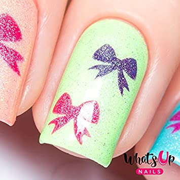 Amazon Whats Up Nails Bow Vinyl Stencils For Christmas Nail