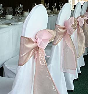 SPRINGROSE White Polyester Standard Round Top Banquet Wedding Chair Covers (set of 10). & Amazon.com: SPRINGROSE 100 Fuschia-Hot Pink Wedding Satin Chair ...