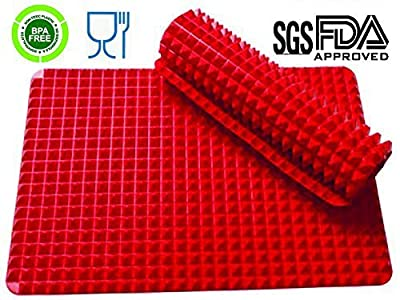 Silicone Healthy Cooking Baking Mat Non-stick,Pyramid Pan, Red 1 Piece by Dodivo