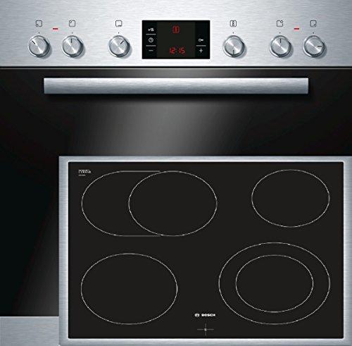 Bosch HND32PS50 Backofen-Kochfeld-Kombination / A / 66L / 3D Heißluft Plus / 1 Zweikreis-Kochzone / edelstahl
