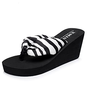 pengweiShapes Slippers Damen Sandalen dicker Boden Hang mit Strand Schuhe , 3 , us6 / eu36 / uk4 / cn36