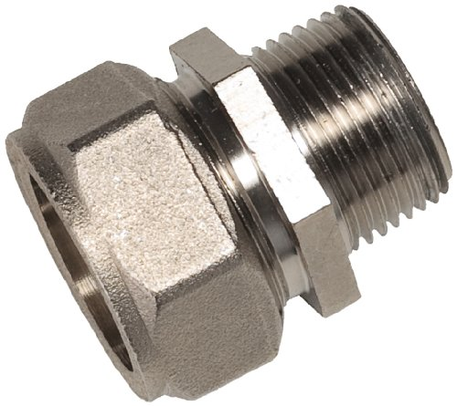 Maxline M8003 Straight Fitting for 3/4-Inch Tubing with 3/4-Inch Male NPT Thread