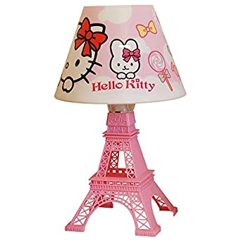 kids hello kitty eiffel tower table bedside lamp parisian france lighting. Black Bedroom Furniture Sets. Home Design Ideas