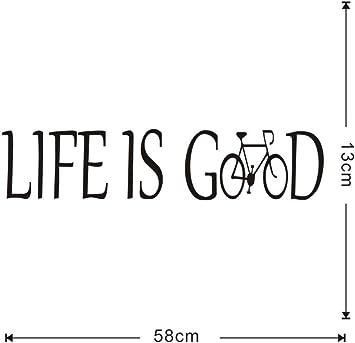 wuyyii La vida es buena calcomanía de pared de vinilo creativo de ...
