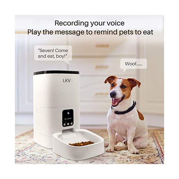 LKV-Automatic-Pet-Feeder-Automatic-Food-Dispenser-for-Cats-Dogs-and-Small-Animals-6L-White-LKV-PFD-101