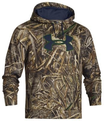 Under Armour 1249745-902 ColdGear Big Logo Camo Hoodie for Men, Realtree Max-5 & Academy - Medium ()