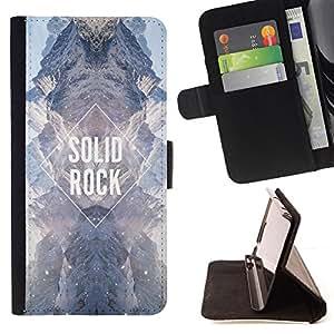 BullDog Case - FOR/Sony Xperia Z1 L39 / - / solid rock diamond sky universe sky /- Monedero de cuero de la PU Llevar cubierta de la caja con el ID Credit Card Slots Flip funda de cuer