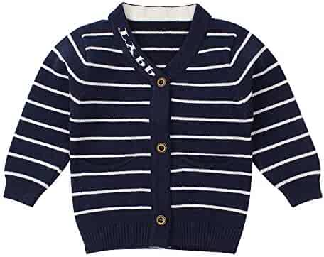 83601fdbc WeddingPach Newborn Boys Sweater Infant Baby Striped Outfit Knitted  Cardigans 0-9M