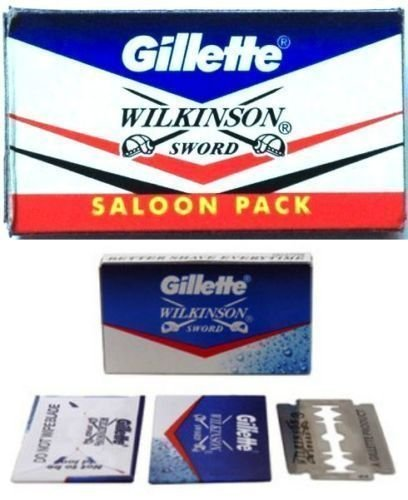 100 pc GILLETTE WILKINSON SWORD RAZOR BLADES double edge safety razor blade