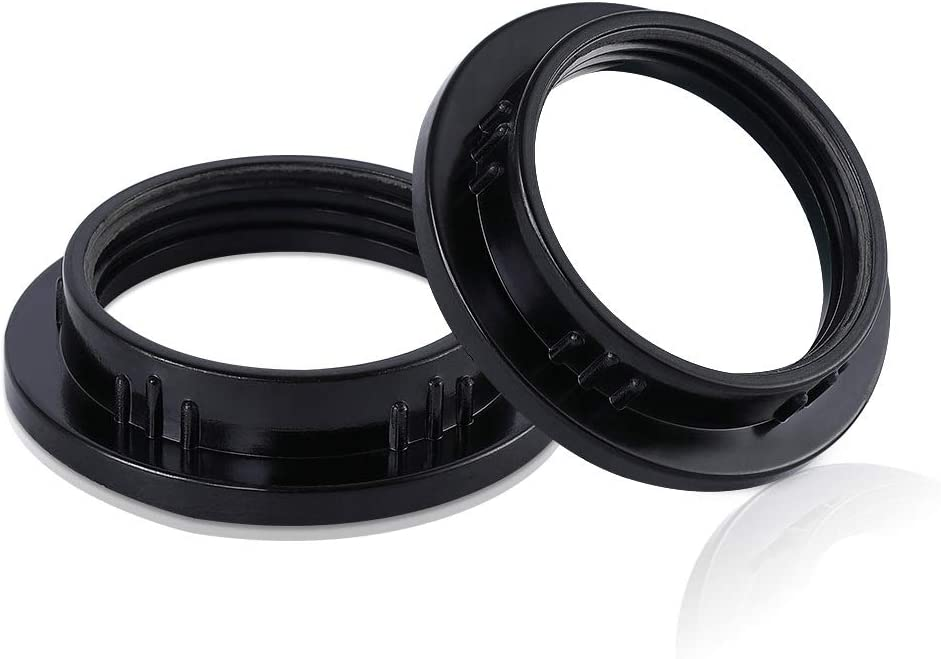 Black Lamp Shade Collar Ring Lock Socket Replacement Adapter Ring for E26 Light Socket with Diameter of 1-3//8 Inches(34MM) PEESIN 4 Pack E26 Light Socket Rings Retainer Rings for Light Fixture
