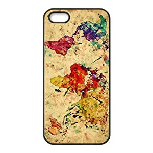 Watercolor world map Cell Phone Case For Iphone 6 4.7 Inch Cover