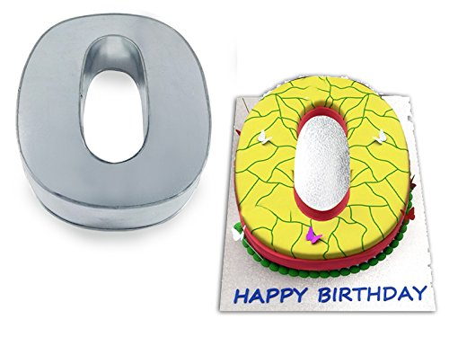 EURO TINS Large Number Zero 0 Wedding Birthday Anniversary Baking Cake Pan 14