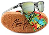 Maui Jim MJ284-27L Eh Brah Sunglasses Light Charcoal w/ Green 284-27L 55mm Authentic