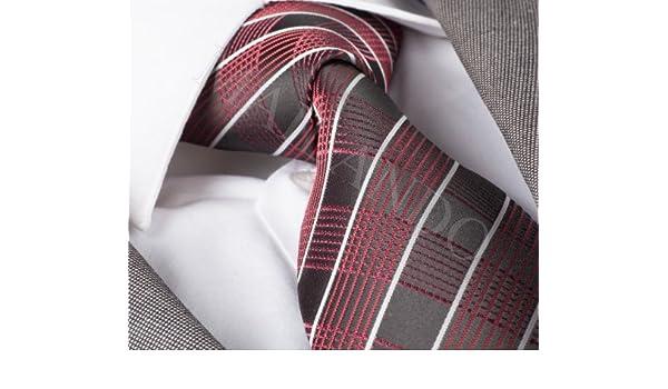 Mailando - Corbata para hombre Handmade cuadros negro - rojo ...