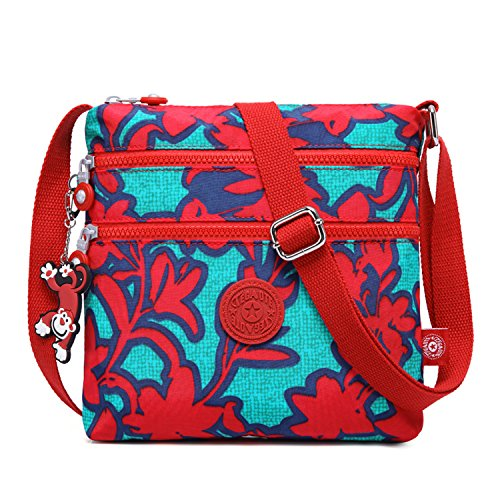 Casual Bag Travel Red Body Cross Messenger Fashion Women for Satchel 4 Sport Shoulder Pack Side Bag Crossbody Foino Bag Girls qUx0Yxt