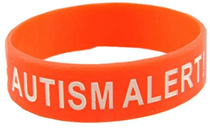 Amazon com : Silicone Medical ID Bracelet AUTISM ALERT! size
