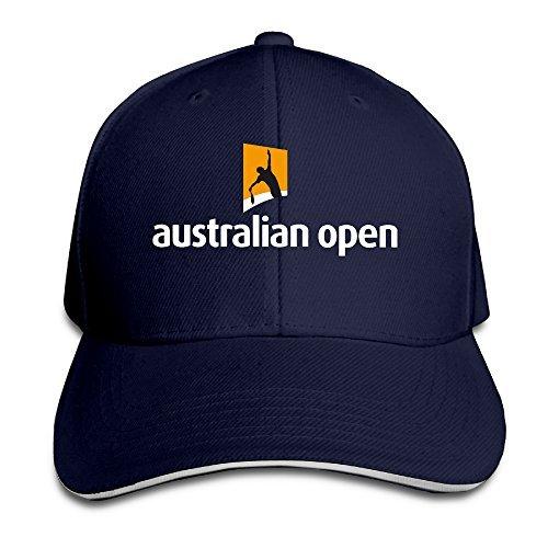 Australian Open Logo Men Contrast Baseball Cap Sandwich Peak Navy