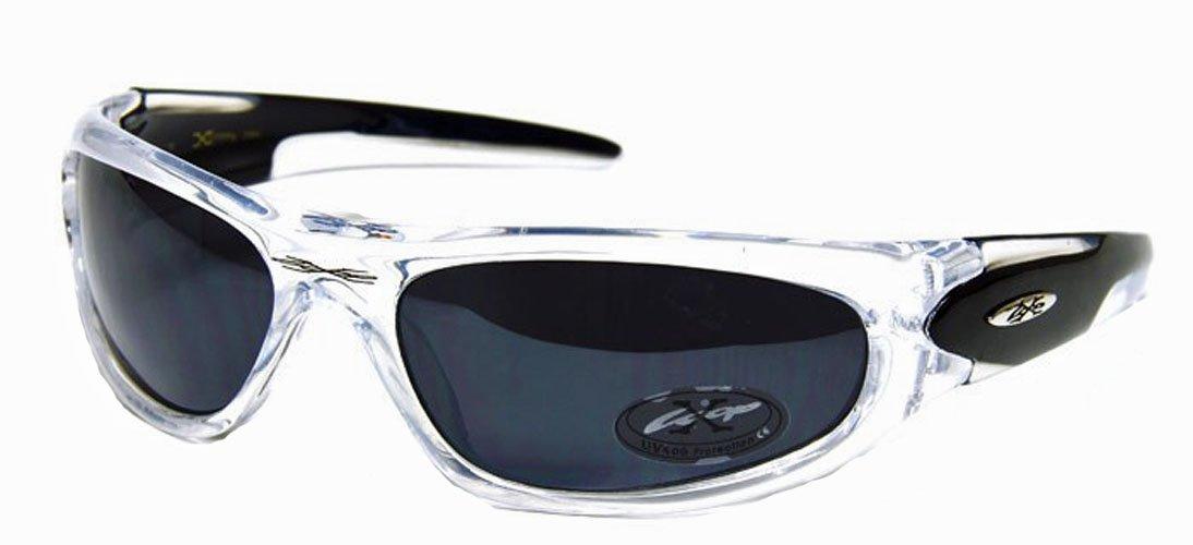 Xloop Black Clear Wrap Triathlon Runner Super Light Sunglasses