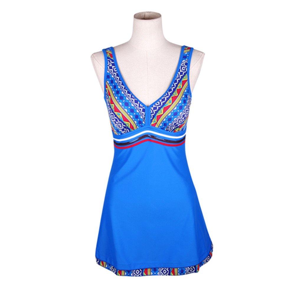 女性の 水着 ドレス 水着 ビキニ ハイウエスト 速乾性 水着 に適用する 水泳 ウェディング エクササイズ スパ (Color : Royal blue, Size : M) B07F2CLKP9 Medium|Royal Blue