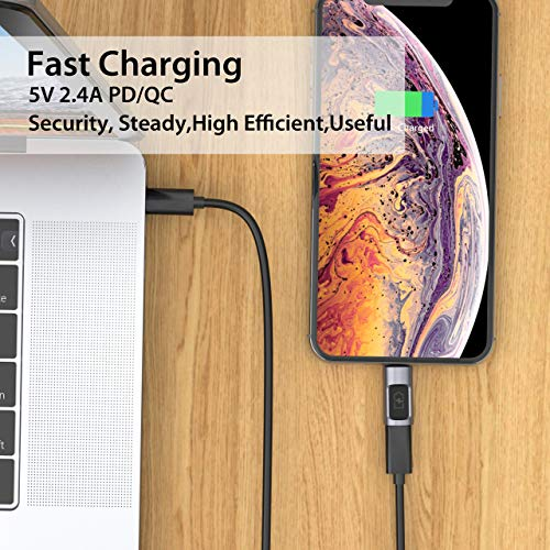 CONMDEX iOS Phone Xs to USB C Adapter 5V 2.4A PD Fast Charge Type C to Phone XS Max Converter Charger Compatible with Phone Xs 8 8 Plus 7 7 Plus 6 7s Plus SE Connect MacBook