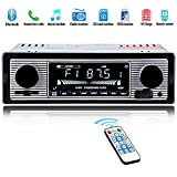 Car Stereo for Bluetooth, Single Din, Hands-Free Calling FM Radio Receiver, USB/SD/AUX Port