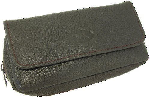 Martin Wess Germany ''Scandinavian Elk Leather'' Combo Tobacco Pouch 2 Pipe Case by Martin Wess
