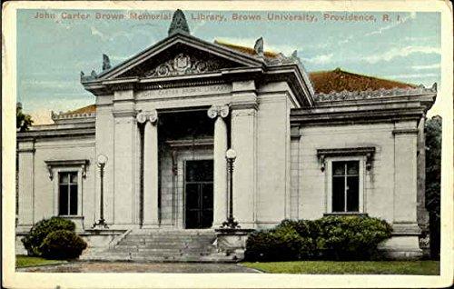 (John Carter Brown Memorial Library, Brown University Providence, Rhode Island Original Vintage Postcard)