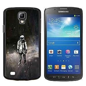 Psychedelic Espacio Astronauta- Metal de aluminio y de plástico duro Caja del teléfono - Negro - Samsung i9295 Galaxy S4 Active / i537 (NOT S4)