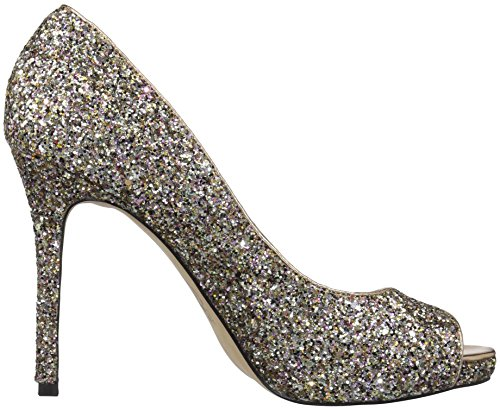 La Donna Di Fix Rosalee Peep Toe Platform Stiletto Dress Pump Rosa Multi