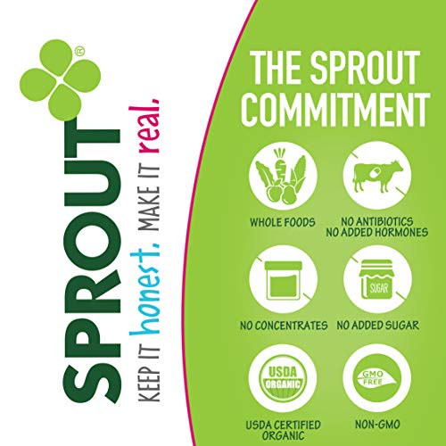 Sprout Organic Stage 3 Baby Food Pouches, Meat Variety, 4 Ounce (Pack of 18) 6 of Each: Root Veg Apple w/ Beef, Creamy Veg w/ Chicken & Garden Veg Brown Rice w/ Turkey