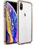 Electronics : Mkeke Compatible with iPhone Xs Case,iPhone X Case,Clear Anti-Scratch Shock Absorption Cover Case iPhone Xs/X-Rose Gold
